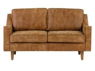Dallas 2-Sitzer Sofa, Vintage-Premium-Leder in Hellbraun