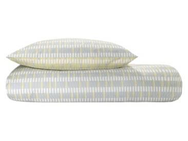 MADE Essentials Santos 100 % Baumwolle Bettwaescheset (155 x 220 cm), Mehrfarbig DE