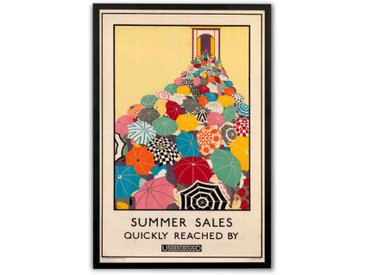 Summer Sales revival, gerahmter Kunstdruck (50 x 70 cm), Mehrfarbig