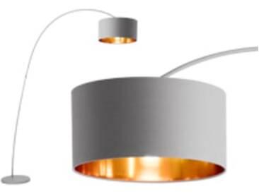 Sweep Stehlampe, Mattgrau und Kupfer