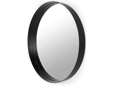 Alana runder Spiegel (o 80 cm), Schwarz