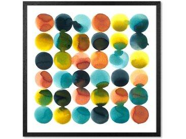 Tonal Dots von Rebecca Hoyes mit Rahmen, (56 x 56 cm)