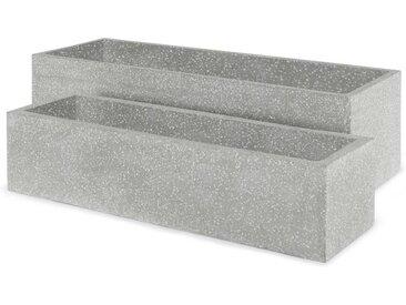 2 x Malin Uebertoepfe, Terrazzo in Grau
