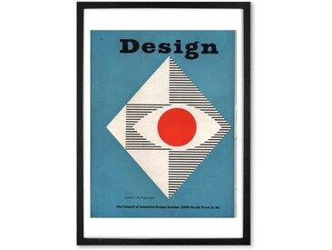 Graphics October 1955 Design Magazine, Gerahmte Kunstdrucke (weitere Groessen erhaeltlich)