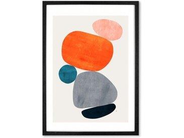 Balance III von Tracie Andrews, mit Rahmen (48 x 65 cm)