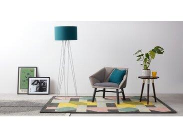 Erin Tripod-Stehlampe, Grau und Blaugruen