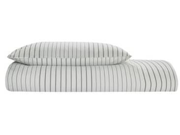 Merlo 100 % Baumwolle Bettwaescheset (155 x 220 cm), Grau DE