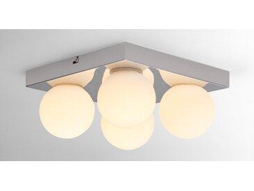 Apollo LED-Badleuchte, Chrom und Milchglas
