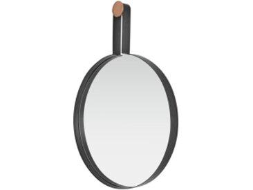 Cira runder Spiegel (50 cm), Kupfer und Schwarz
