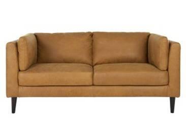 Lindon 2-Sitzer Sofa, Vintage-Premium-Leder in Hellbraun