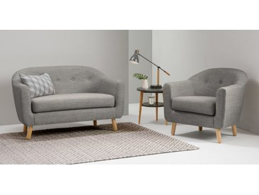 Lottie 2-Sitzer Sofa, Kalkgrau