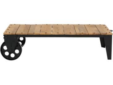 Humphrey Couchtisch, Holz und Antik-Metall