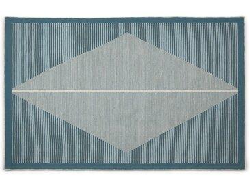 Camden Teppich (160 x 230 cm), Blaugruen und Weiss