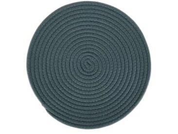 Torro 4 x runde Tischsets, Blaugruen