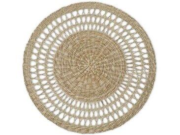 Tacna 4 x runde Tischsets, Natur