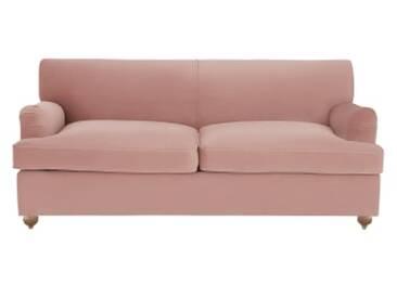 Orson Schlafsofa, Samt in Vintage-Pink
