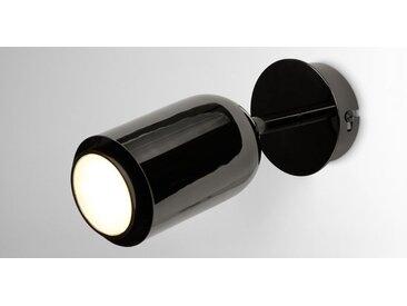 Korey LED-Wandleuchte, Nickel in Schwarz
