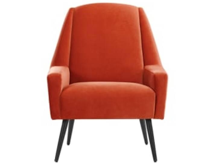 Roco Sessel, Samt in Retro-Orange
