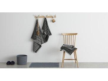 4 x Ludo 100 % Baumwolle Handtuch-Set, Anthrazit