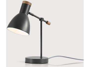 Cohen Nachttischlampe, Tiefgrau und Eiche