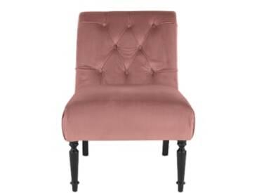 Slipper Sessel, Samt in Vintage-Rosa