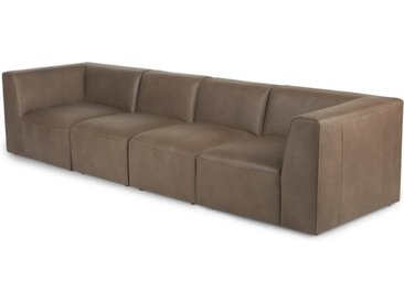 Juno modulares Sofa, braunes Leder