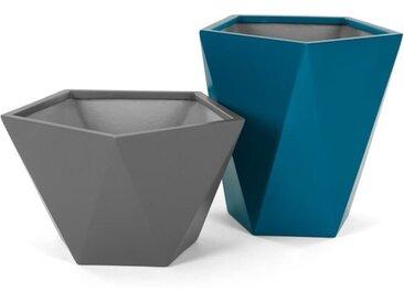 2 x Baloo Uebertoepfe, Grau und Blaugruen