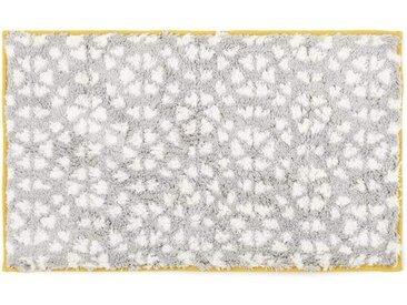 Trio Badematte (50 x 80 cm), Grau/Senfgelb