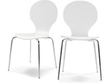 2 x Kitsch Esszimmerstuehle, Weiss