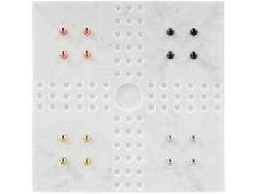 Akiko Mensch-aergere-dich-nicht Brettspiel, Marmor und Metall