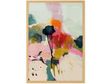 Abstract Landscape Floral Print gerahmter Kunstdruck (A2), Mehrfarbig