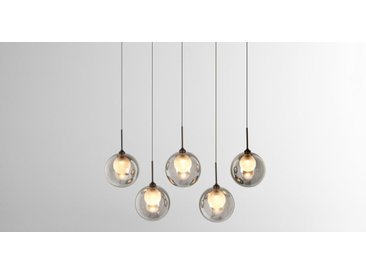 Masako LED-Pendelleuchte, Milchglas und Rauchglas