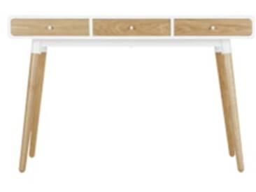 Edelweiss Schreibtisch, Esche und Weiss
