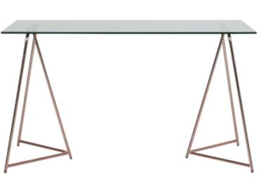 Patrizia Schreibtisch, Kupfer und Glas