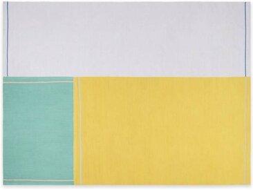 3 x MADE Essentials Tesselate Teppiche, Grau und Gelb