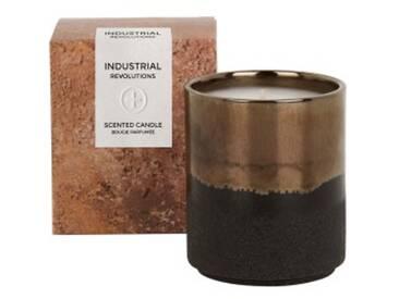Industrial Duftkerze mit Geschenkbox, Rauch und Leder