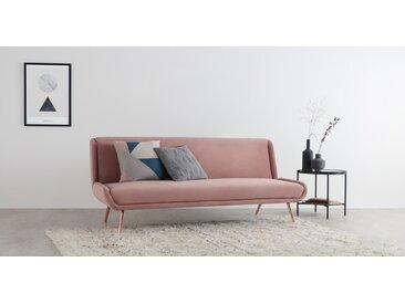 Moby Schlafsofa, Samt in Vintage-Pink und Kupfer