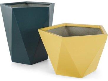 2 x Baloo Uebertoepfe, Gelb und Blaugruen