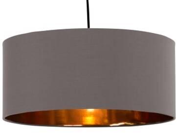 Oro Lampenschirm (45 cm), Grau und Kupfer