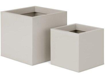 2 x Razan quadratische Uebertoepfe, Steingrau