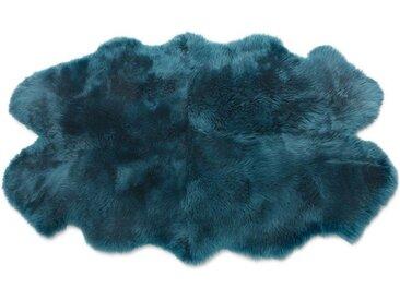 Helgar Schaffell (105 x 170 cm), dunkles Blaugruen