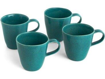 Nara 4 x Tassen, Blaugruen