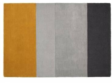 Vance Teppich (160 x 230 cm), Senfgelb und Grau