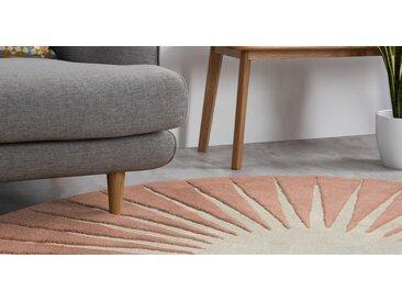 Vaserely runder Teppich (200 cm), Rosa