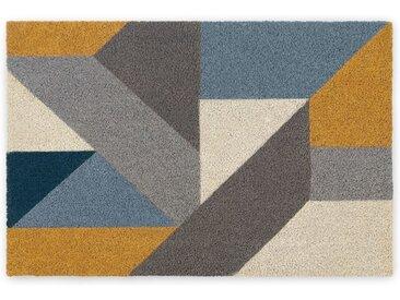 Holden grosse Fussmatte (60 x 90 cm), Blau und Gelb