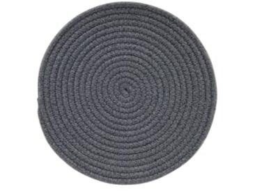 Torro 4 x runde Tischsets, Grau