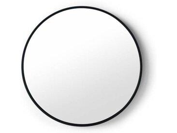 MADE Essentials Bex runder Spiegel (55 cm), Schwarz