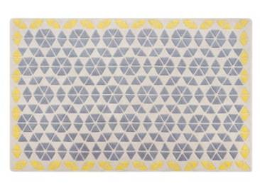 Trio Teppich (160 x 230 cm), Grau und Senfgelb