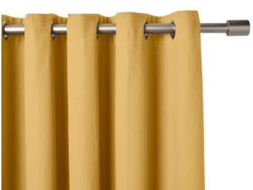 2 x Solar Vorhangschals (168 x 182 cm), Senfgelb