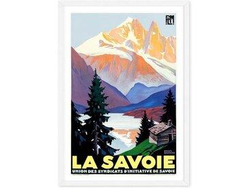 La Savoie A1 Framed Vintage Travel Wall Art Print, Multicoloured